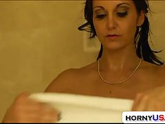 Ava Addams takes facial and showering