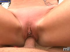 Sexually excited and wild fake penis playing