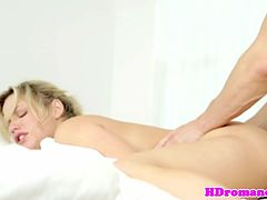 Sexual couple enthusiastic love making