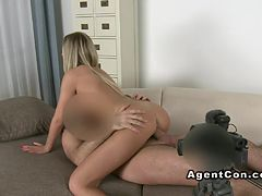 Euro blonde banged on casting amateur fucking