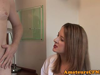Mature doctor babe tugging patients cock