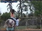 Teen Topless Rides Horse