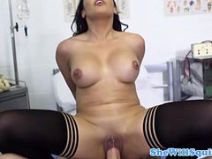 Young gusher latina gets it doggystyle by her doctor