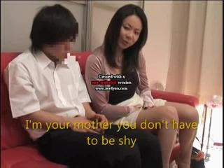 Japan mom and son watch porn